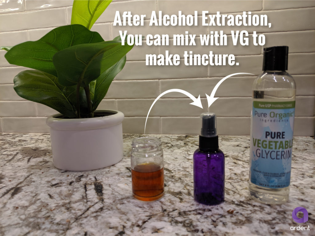 alcohol extraction making thc tincture