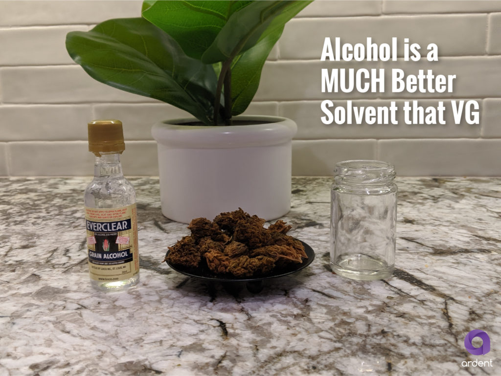 alcohol as cannabis solvent